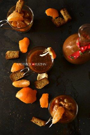 Préparation trifle aux clémentines corses et caramel aux noisettes bio - dessert confort food