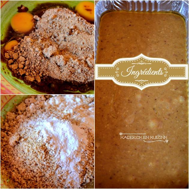 Préparation cake aux noisettes bio, sucre rapadura et farine riz