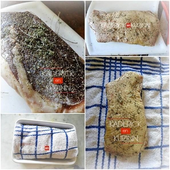 Préparation magret de canard pendant la période de séchage - recette de fêtes et noël