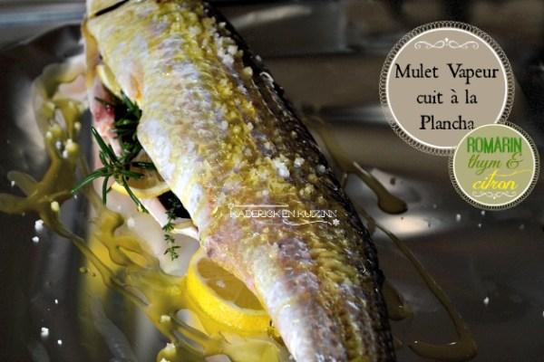 Recette papillote mulet ou muge à la plancha, romarin, thym et citron - recette facile de poisson