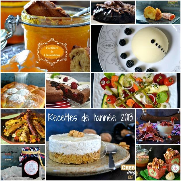 Recettes de cuisine de l'année 2013 top recette par mois en mosaïque pour fêter 2014