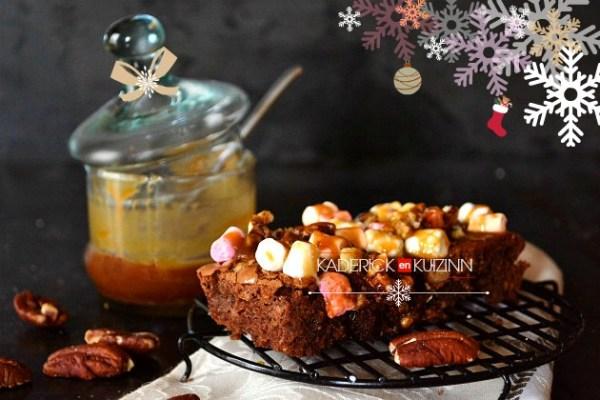 Brownie au chocolat noir rocky road goûter de noël pour Vahiné - recette de noël