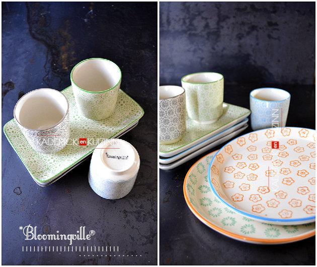 Assiettes rondes, rectangulaires et tasses de la marque bloomingville® offert par Zalando® - recette de cuisine
