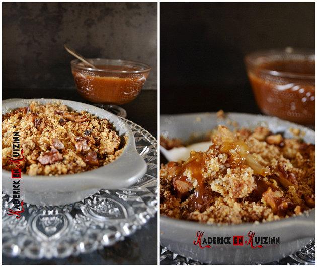 Cuisson crumble de pommes pain d'épice caramel beurre salé - recette de comfort food