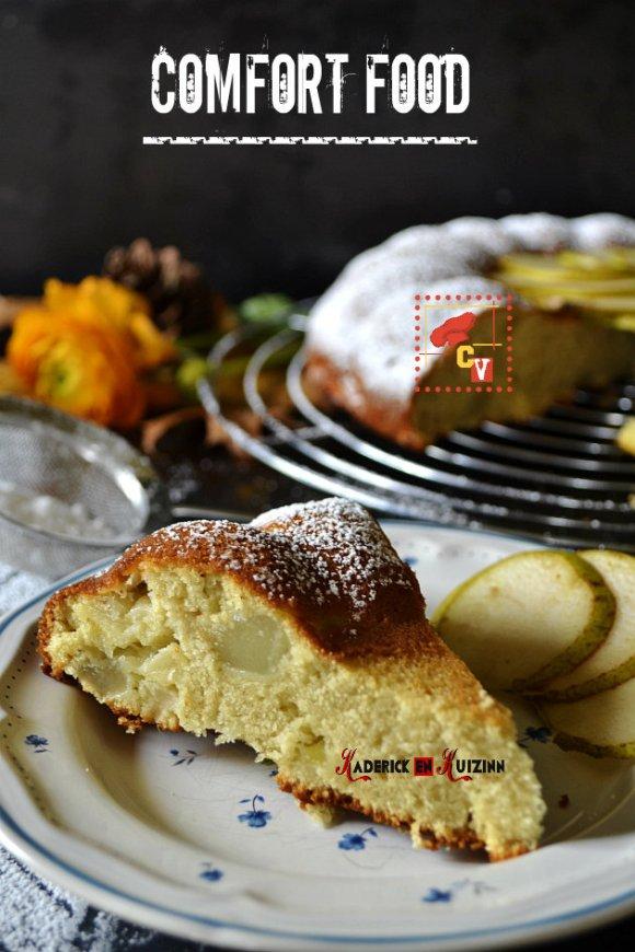Recette du moelleux amandes en poudre et effilées aux pommes, poires - recette comfort food