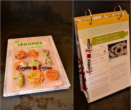 Delibox, box bio avec un livre de recette de légume des éditions mango et des fiches - recette bio