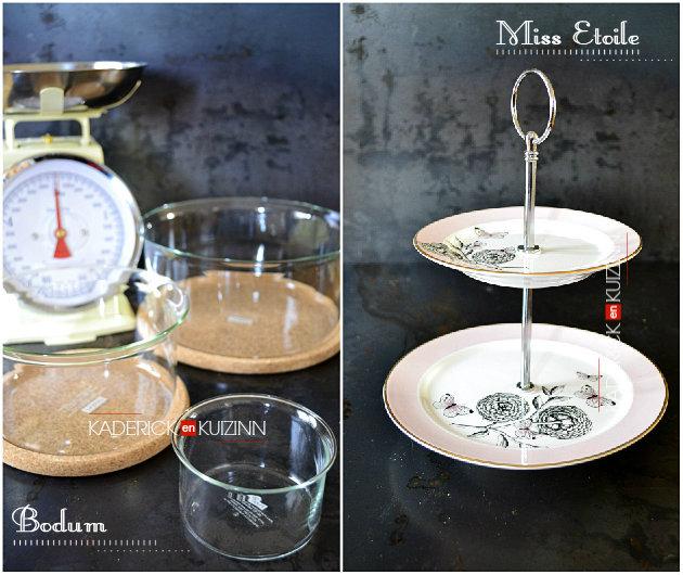 Plat à étages de présentation miss étoile offert par zalando, plats bodum et balance bloomingville - recette de cuisine