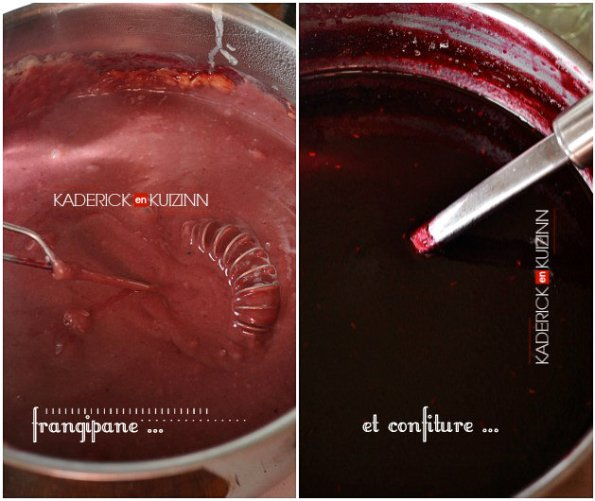Préparation crème frangipane et confiture fruits rouges aux framboises et mûres - recette de fruits