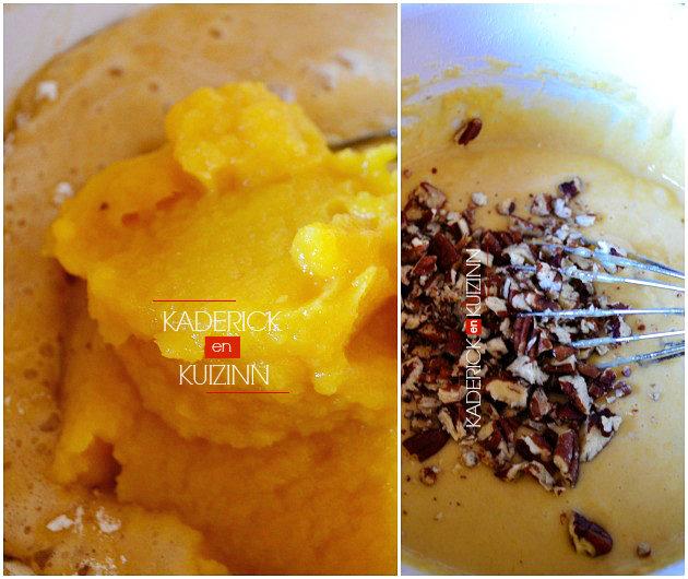 Préparation muffins purée de citrouille bio et noix de pécan recette de Mimi Thorisson - recette de chef
