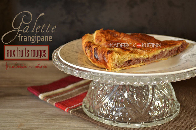 Recette galette frangipane aux fruits rouges avec framboises et mûres - recette épiphanie