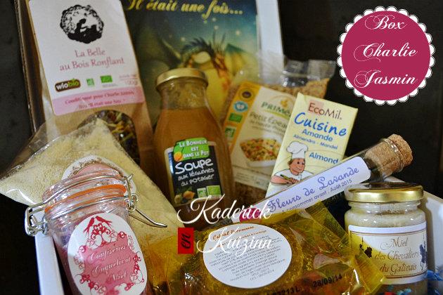 Box Charlie Jasmin avec ces produits offerts pour mon blog de cuisine - Partenariat