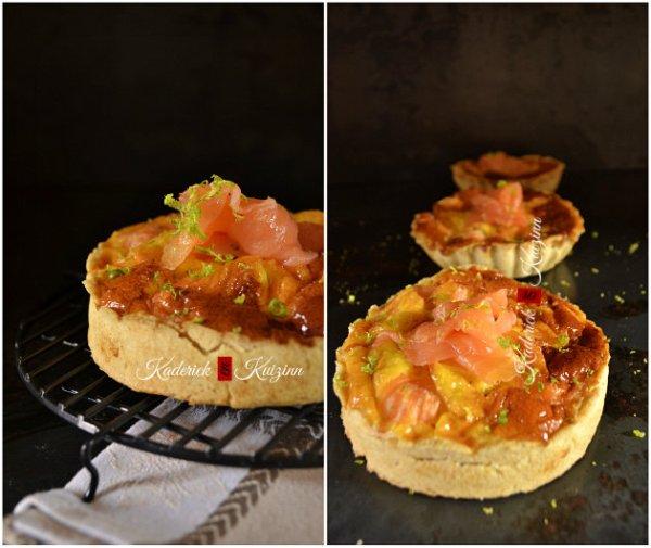 Présentation mini quiche saumon fumé  à la pâte brisée maison - recette de tarte