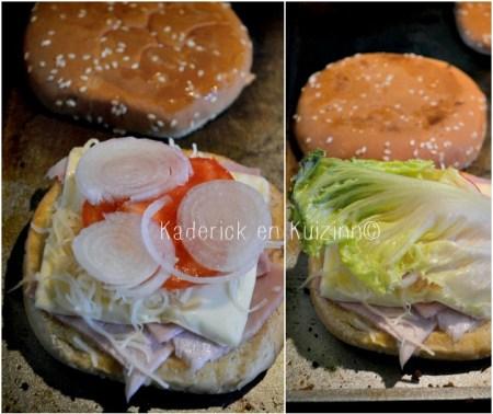 Recette plancha - cuisson d'hamburger home made toasté façon croque monsieur