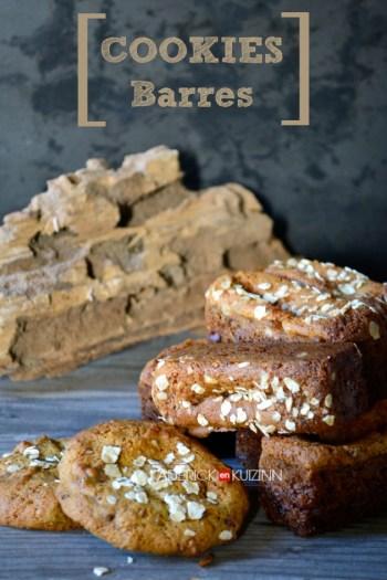 Cookies bars - Recette cookies sains à la crème de calisson et pépites de chocolat