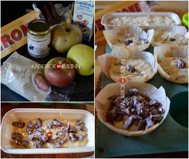 Recette muffins - muffins aux pommes, amande, miel et chocolat
