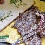 Recette plancha - basse côte de bœuf grillée à la plancha accompagnée de sel d'herbes