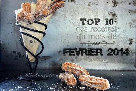 Top 10 des recettes du mois de fevrier 2014 sur Kaderick en Kuizinn