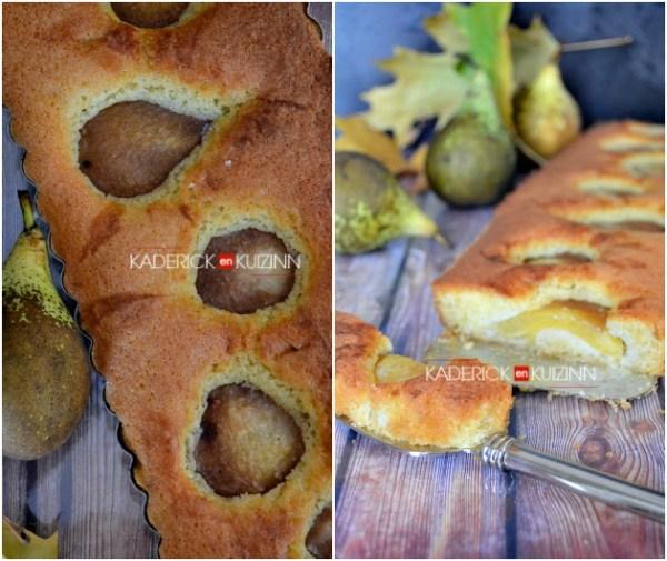 Recette tarte - Tarte madeleine vanille, amandes et poires façon tarte bourdaloue