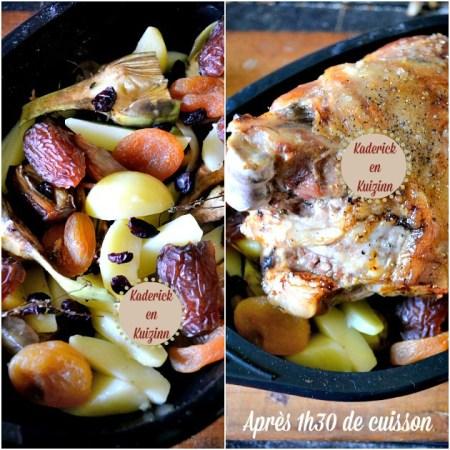 Agneau confit - Recette sucrée-salée d'épaule d'agneau à la rôtissoire pour Pâques