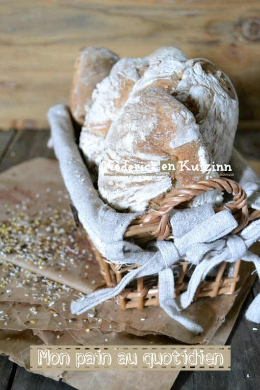 Recette pain - pains express sans pétrissage aux 5 céréales bio