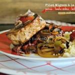 Plancha filet - Filet mignon de porc mariné sauce sofrito à la plancha