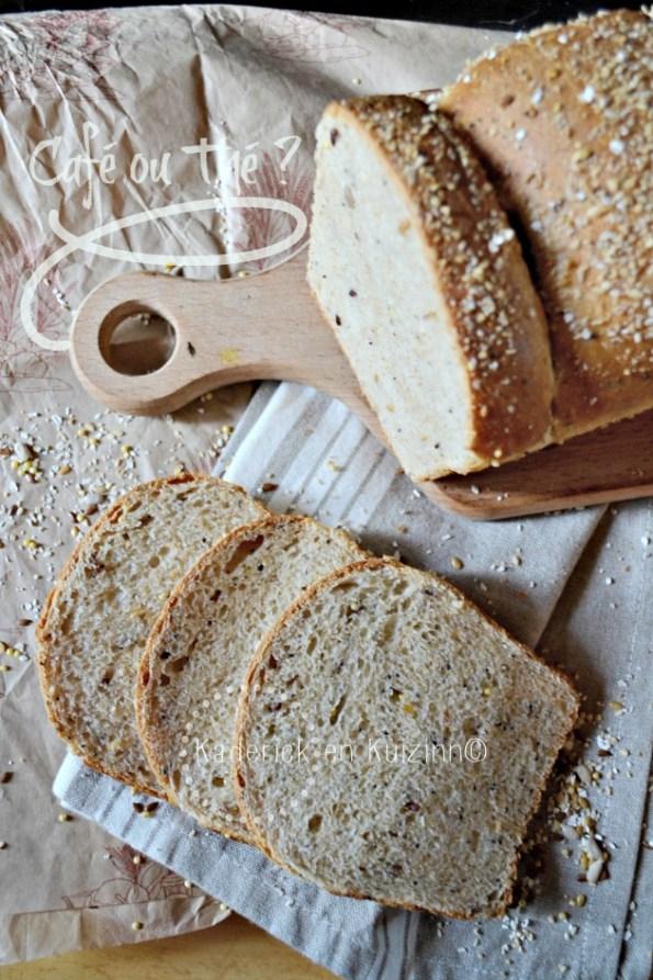 Pain complet - Recette du pain de mie complet aux 5 céréales bio
