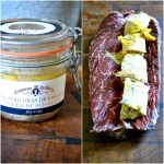 Plancha onglet - Rôti d'onglet de boeuf farci de foie gras mi-cuit à la plancha