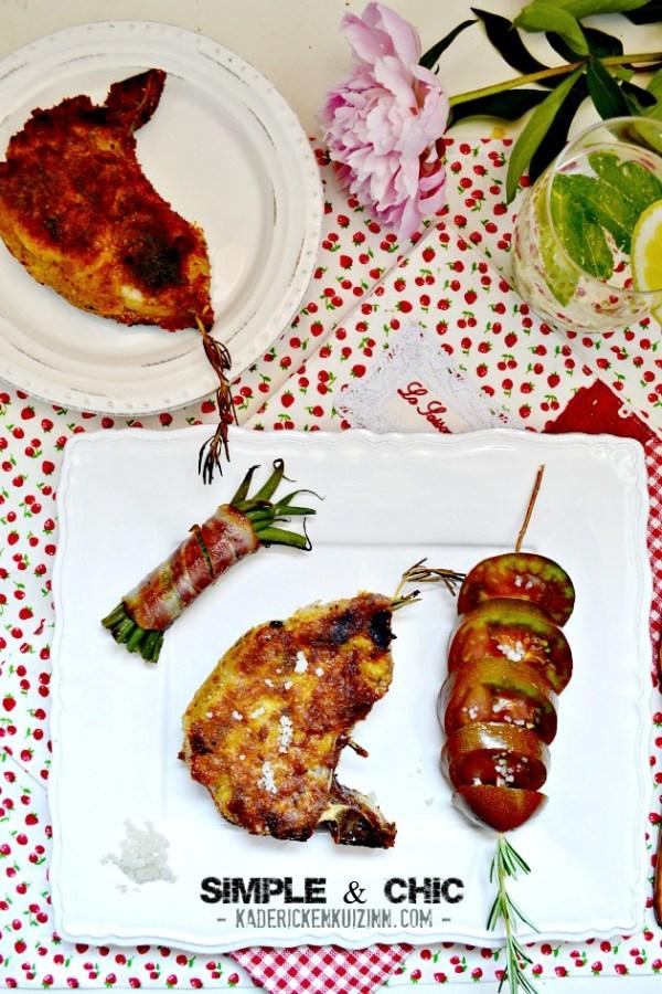 Recette plancha porc - Côtes panées à la chapelure de romarin