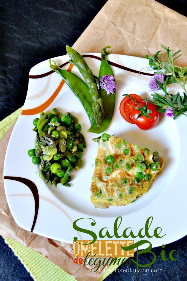 Salade bio - Omelette de légumes et salade de légumes bio