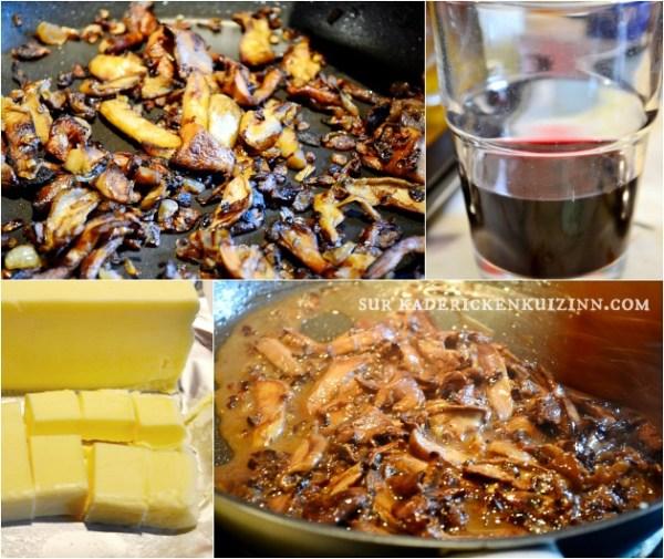 Daurade plancha ou dorade grillée à la plancha sauce bordelaise aux champignons