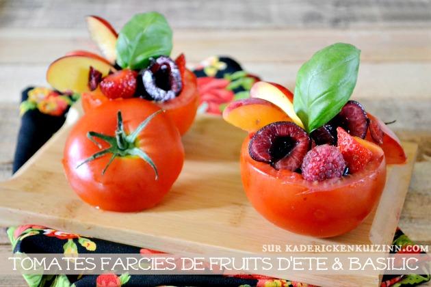 Tomates farcies - Entrée sucré-salé de tomates farcies aux fruits d'été