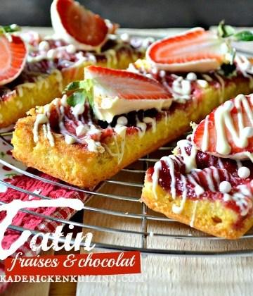 Recette madeleine tatin aux fraises et chocolat blanc