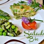 Recette Salade bio en omelette légumes de printemps