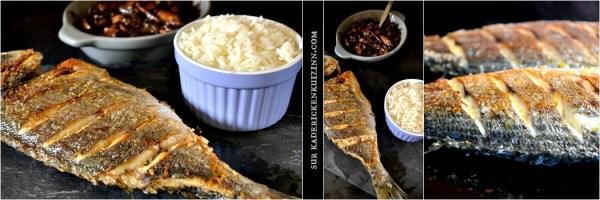 Daurade plancha ou dorade grillée à la plancha sauce bordelaise et riz
