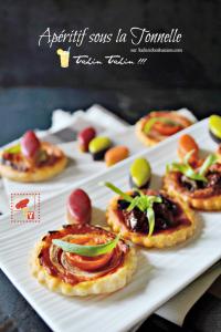 Minis tartelettes - Pizzas au pesto de poivrons pour l'apéro Culino Versions