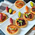 Minis tartelettes - Pizzas au pesto de poivrons pour l'apéro