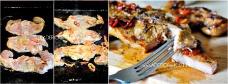 Agneau plancha - Côtes d'agneau marinées au curry poêlée de pâtisson