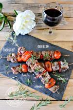 Plancha boeuf - Brochette de boeuf à la plancha chorizo pimento et romarin Cuisine plancha