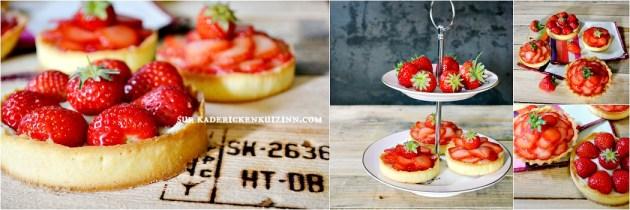 Recette fraise - Tartelettes fraises et crème mousseuse à la vanille