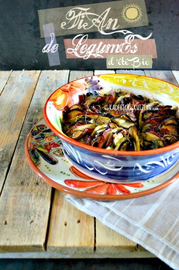 Tian provencal - Tian de légumes d'été bio aux herbes de Provence