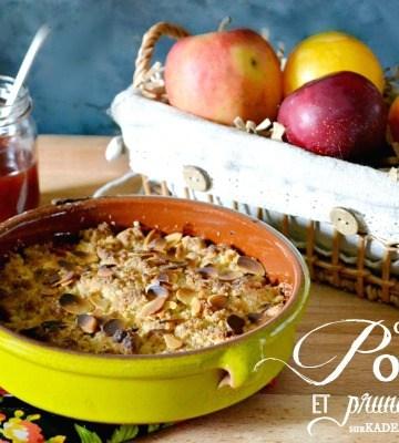 Crumble prunes - Recette crumble pommes prunes amandes