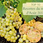Aout 2014 - Top 10 recettes du mois d'Août 2014 sur Kaderick