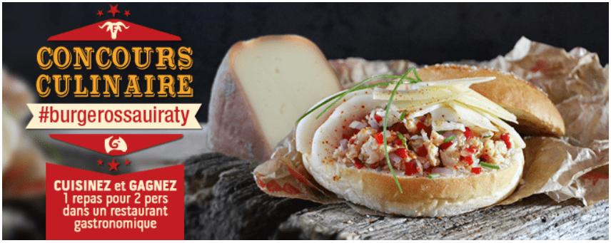 Concours culinaire - Concours Ossau-Iraty #burgerossauiraty