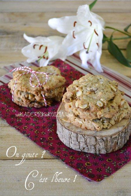 Recette cookies - Cookies amandes complètes et chocolat Toblerone blanc