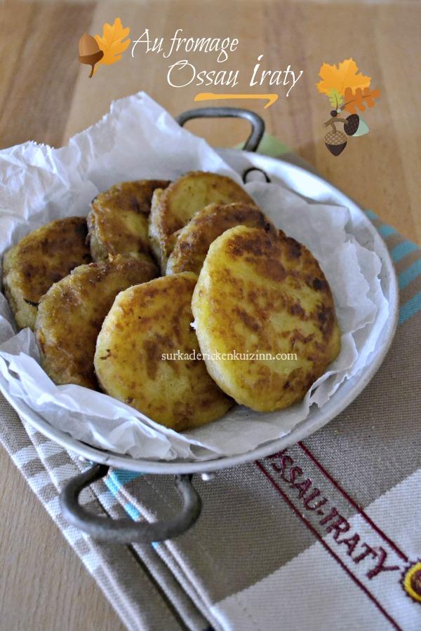 Recette galettes - Palets de pomme de terre à l'Ossau Iraty fermier
