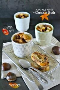 Veloute potimarron - Recette chestnut bush bio cèpes et marrons