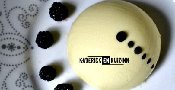 Logo page accueil recette cuisine sphere chocolat blanc mures