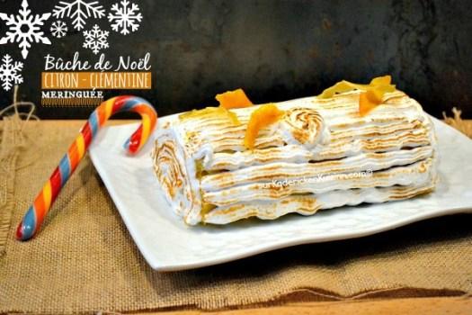 Buche noel citron et clémentine meringuée - Kaderick en Kuizinn