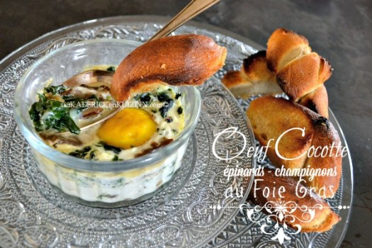 Jour 17 Calendrier de l'avent 2014 chez Kaderick en Kuizinn© oeuf cocotte au foie gras