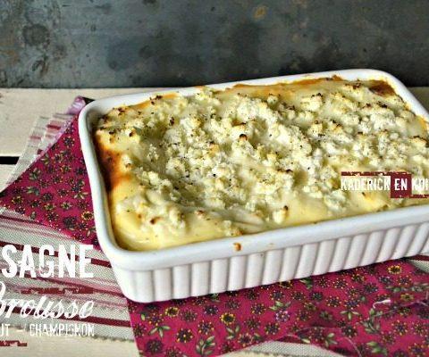 Lasagnes fraiches brousse artichaut et champignon - Kaderick
